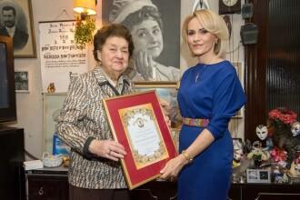 Gabriela Firea i-a acordat actriței Tamara Buciuceanu titlul de Cetățean de Onoare