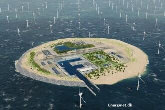 """Proiectul SF al olandezilor: o """"baterie"""" gigant în Marea Nordului, pe o insulă artificială"""
