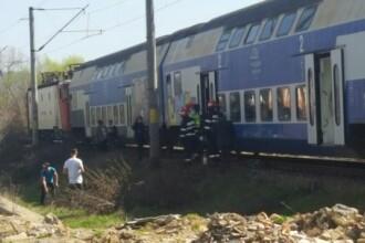 Incendiu la un vagon de tren cu 20 de pasageri la bord, în Bistrița Năsăud