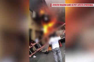 Incendiu puternic într-o sală de dans. Mai mulți minori, nevoiți să sară pe geam pentru a se salva