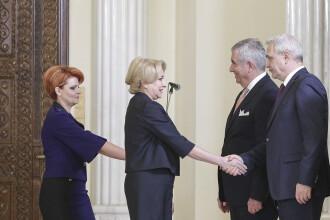 Viorica Dăncilă şi Lia Olguţa Vasilescu, întrevedere cu Liviu Dragnea la Parlament