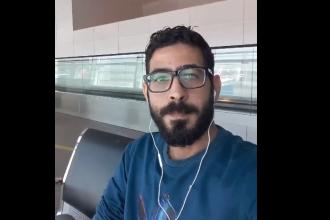 """Refugiatul sirian care trăiește de o lună într-un aeroport. """"Nu e războiul meu"""""""