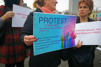 Protest al personalului de la Institutul pentru Boli Cardiovasculare C. C. Iliescu din Bucureşti