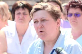 Protest la Spitalul de Boli Infecţioase din Timişoara, din cauza salariilor micșorate.