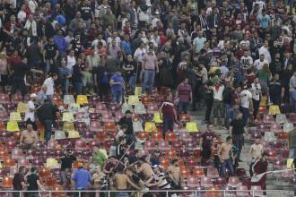CSA Steaua - Rapid 1-3. Incidente grave în tribune: suporterii s-au luat la bătaie