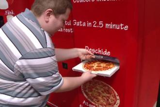 """Românii își pot cumpăra pizza, salam sau mici de la automate: """"Mi se pare practic"""""""
