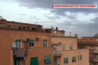 Sinucigaş prins în ultima clipă când încerca să se arunce de pe bloc, în Roma