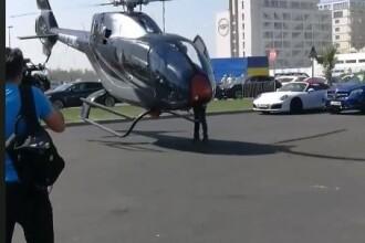 """Incident la aterizarea unui elicopter, în Mamaia. Pilot: """"A fost o rafală de vânt"""". VIDEO"""