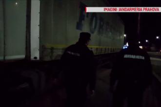Șofer de TIR, prins în flagrant în timp ce fura din marfa pe care o transporta