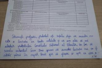 Nota 1 la simularea la BAC. Ce a scris o elevă pe foaia de examen. FOTO