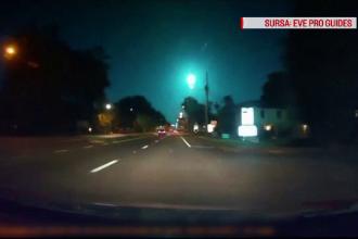 O minge de foc a luminat cerul în SUA. Reacția martorilor
