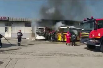 Incendiu în autogara din Târgovişte. Cine ar fi pornit intenţionat focul