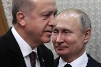 """Erdogan i-a cerut lui Putin """"să se dea la o parte"""" din Siria"""