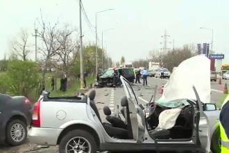Accident grav în Oradea, cu 3 mașini. Un șofer a intrat pe contrasens