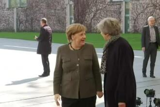 Angela Merkel consideră posibilă o amânare a Brexitului. Ce a discutat cu Theresa May