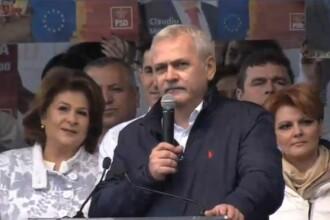 Liviu Dragnea, la mitingul electoral PSD la Craiova: Iohannis este îngrozit de noi