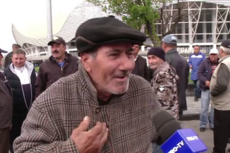Reacția unui bărbat întrebat de ce a venit la mitingul PSD de la Craiova
