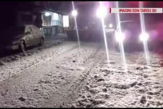 Zăpadă abundentă pe Transalpina. Drumarii au scos utilajele de deszăpezire