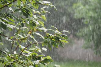 Temperaturile scad în următoarea perioadă. Vin furtuni cu ploi și fulgere