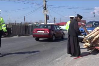 Surpriza avută de polițiștii din Argeș care au oprit în trafic un călugăr