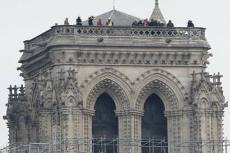 Prima slujbă susţinută la Notre-Dame de Paris după incendiul de acum 2 luni. VIDEO