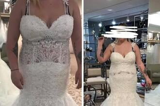 S-a fotografiat într-o rochie de mireasă şi a cerut păreri pe Instagram. Reacţia oamenilor
