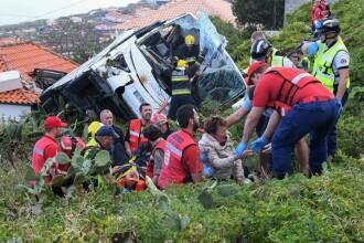 Autocar răsturnat în Madeira. Cel puţin 29 de turişti germani au murit. VIDEO, GALERIE FOTO