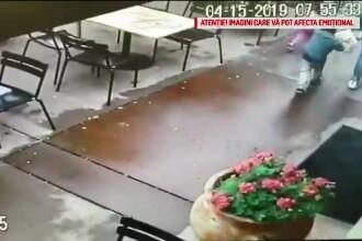 O mașină a intrat în plin într-un restaurant. O mamă și doi copii au scăpat miraculos