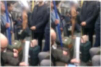 Bărbat filmat complet dezbrăcat în metroul din Londra. Ce făcea. VIDEO