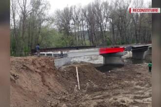 ANIMAȚIE GRAFICĂ. Cum s-a prăbușit podul de la Stoina, rănind 4 muncitori