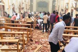 Primele secunde după atacul asupra unei biserici din Sri Lanka. IMAGINI ȘOCANTE