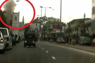 Atacul din Sri Lanka. VIDEO: momentul în care una din bombe explodează