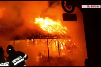 Incendiu violent la un restaurant din județul Brașov. De la ce ar fi izbucnit focul