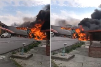 Scene de groază pe DN 6, în Caraș-Severin. Un TIR a ars ca o torță, după un accident