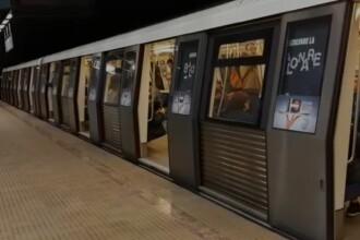Alertă la stația de metrou 1 Mai. Un bărbat a fost prins de ușile unui tren și târât pe peron