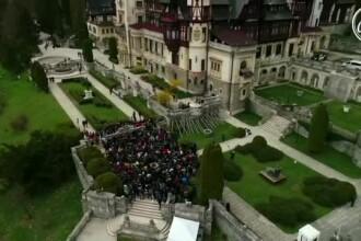 Petrecere în fața Castelului Peleș, transmisă în direct în toată lumea