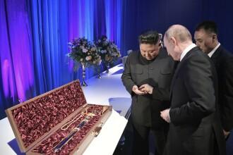 Ce cadouri și-au oferit unul altuia Vladimir Putin și Kim Jong-un. FOTO și VIDEO