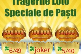 Report de peste 4 milioane de euro la Loto 6/49, după tragerea dublă de Paște