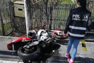 Tânăr de 26 ani, în comă la spital după ce s-a izbit cu motocicleta de stâlp. FOTO