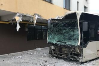 Accident provocat de un autobuz în Capitală