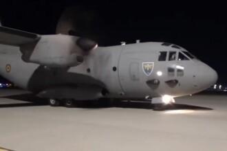 VIDEO. 100.000 de măști de protecție au fost aduse din Turcia de o aeronavă a armatei