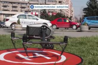 Clujul va monitoriza cu drone respectarea măsurilor impuse de autorități în starea de urgență