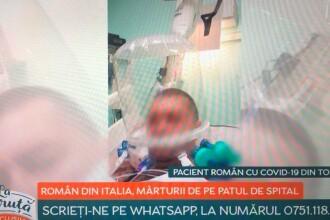 """Mărturia unui român infectat cu Covid-19, internat în Italia: """"Nu știam dacă o să scap cu viață"""""""