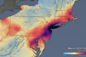 Imaginile NASA care arată cu cât s-a redus poluarea în SUA în urma pandemiei