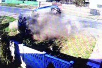 Accident spectaculos în Vaslui: trei mașini s-au făcut praf