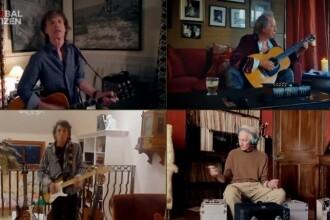 Zeci de vedete rock și pop au cântat de acasă, într-un festival virtual organizat online