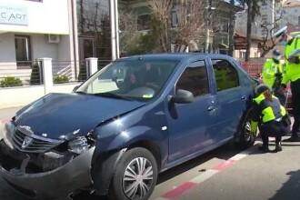 Accident teribil în Târgoviște. O femeie a fost rănită, iar trei mașini avariate