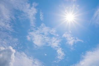 Vreme deosebit de caldă. Zonele în care se vor înregistra 21 de grade