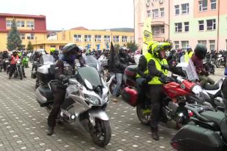 Zeci de motocicliști au defilat pe străzile din Cluj-Napoca. Mesajul transmis șoferilor