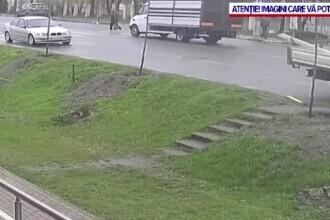 Bătrână accidentată de o camionetă, la Tecuci, când traversa regulamentar